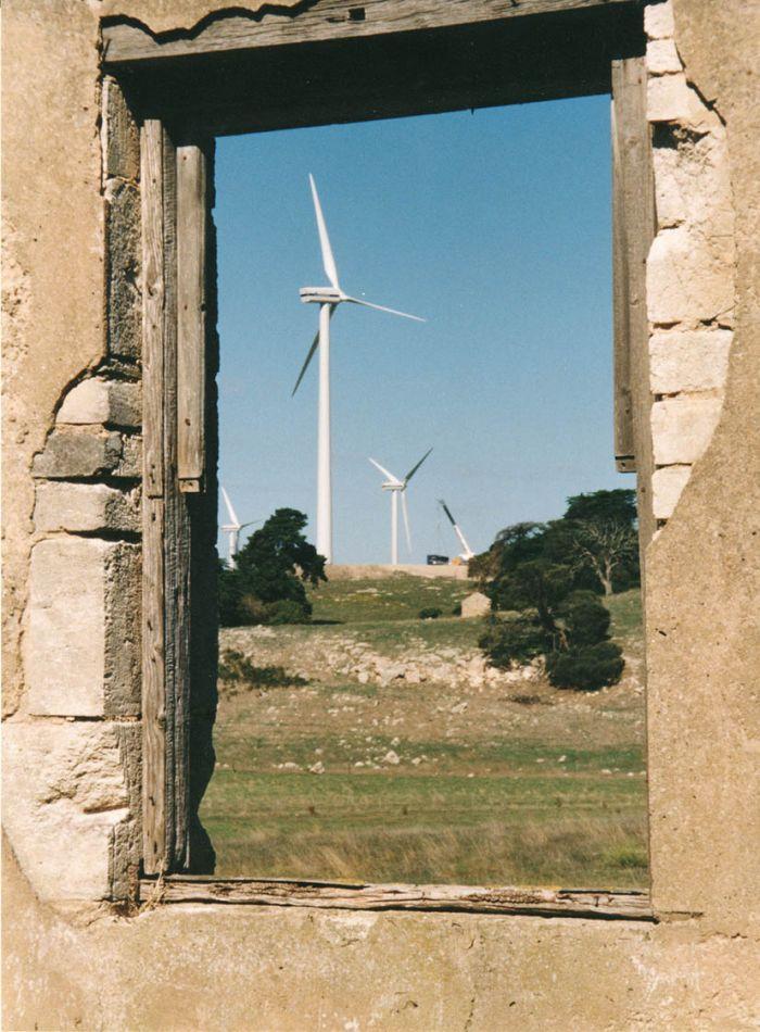 Windfarm framed