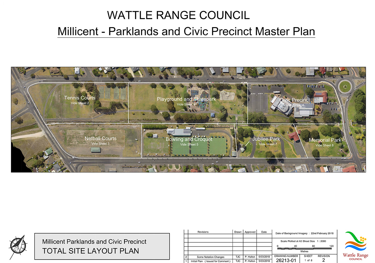 Millicent Parklands and Civic Precinct Master Plan Sheet1