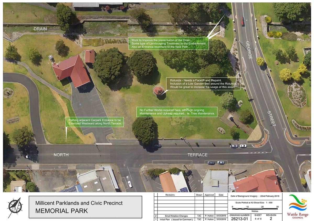 Millicent Parklands and Civic Precinct Master Plan Sheet8