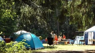 Camp site, tents camping, caravan camping