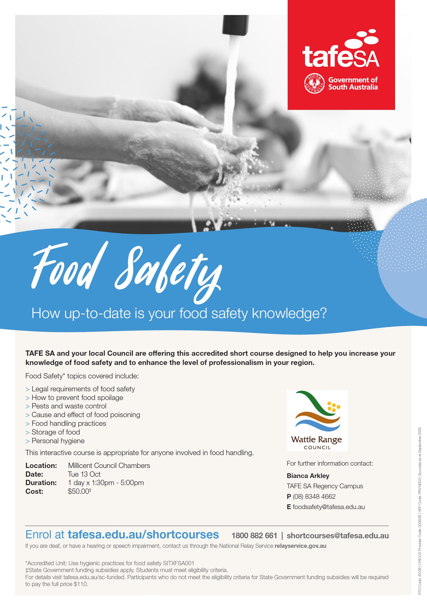 Tafe SA Food Safety Poster