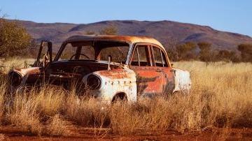 Abandoned car, vehicle, old