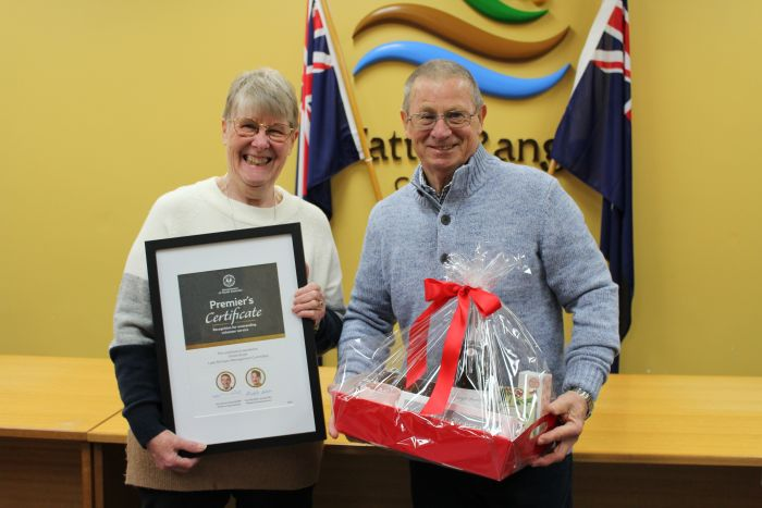 Premier's Certificate of Recognition for Outstanding Volunteer Service