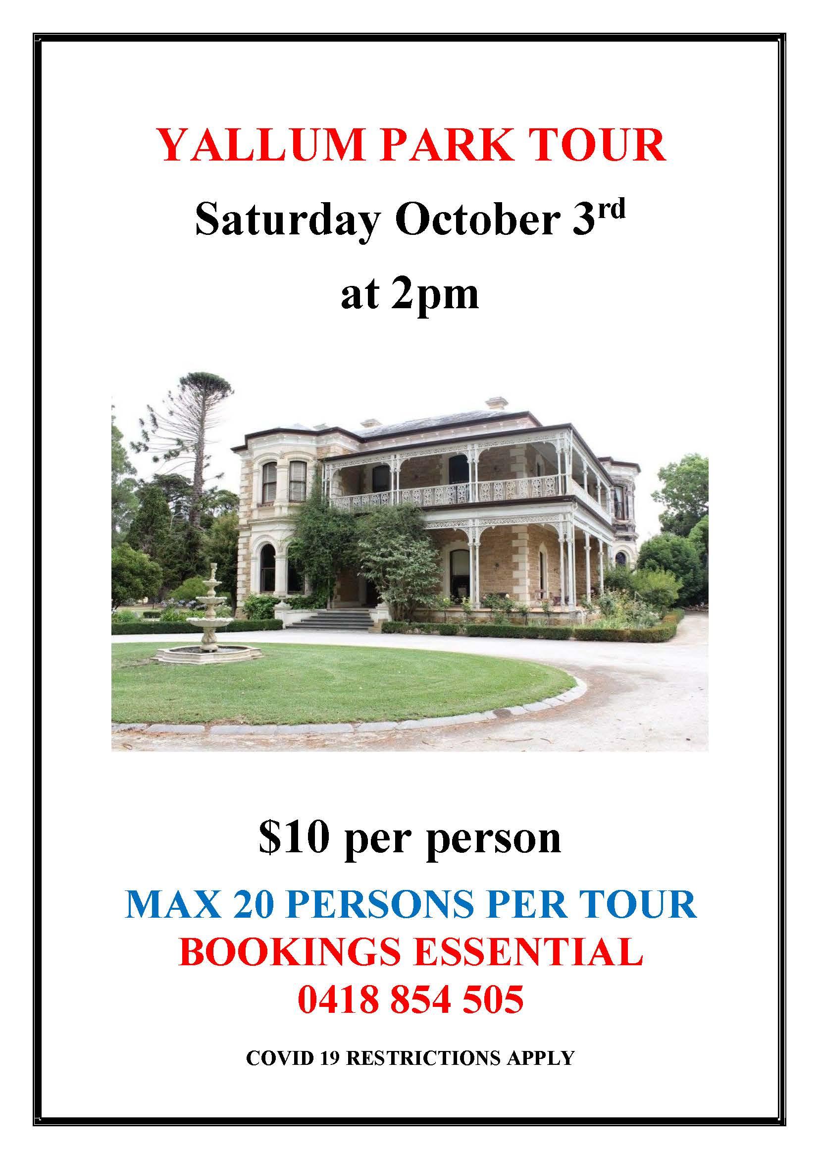 Yallum Tour October